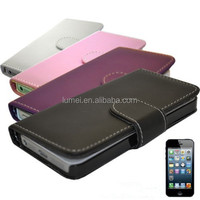 Luxury Wallet Flip Mobile Phone Case Cover For iPhone 5 With Card Slot