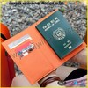 2015 Wholesale Fashional Bulk Wateproof Orange Color Leather Fake Passport Cover For Cheap Price Passport Case Made In China