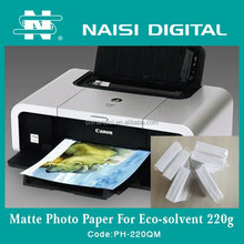Eco Solvent Matte Photo Printing Paper 220gsm