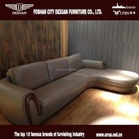 Modern furniture living room solid wood frame corner sofa design DX-125