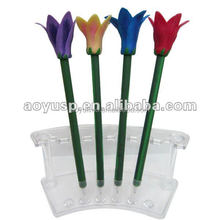 New fashion fimo flower pen for promotional gift