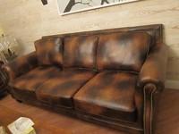 HEMEU brand Brown colour Top Grain leather sofa for living room