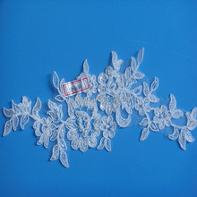 Flores de tecido bordado para vestidos SBP42142CB