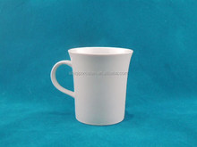 cheap bulk custom white ceramic mug with horn shaped bone china factory