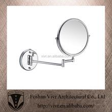 rotatable 2-face magnifying bathroom makeup mirror