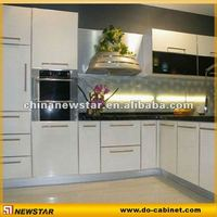 molding kitchen cabinet door white lacquer finish