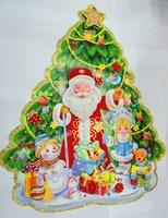 Paper crafts santa claus door decoration