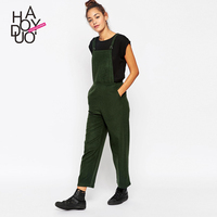 HAODUOYI Women Capris Overall Pants OL Style Cropped Jumpsuits Trousers for Wholesale