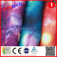 Hot sale popular galaxy printed fabric factory