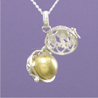 Harmony Christmas Gift Turtle Angel Cage with Gold Chime Ball Necklace Mexican Bola Ball for Pregnant Mom CB10