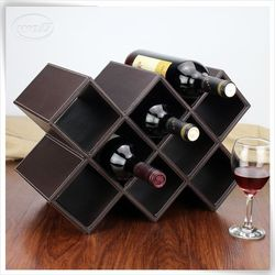luxury pu leather paper wine bag of wine