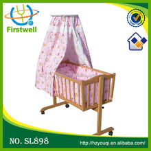 Wood convertible sofa/wooden baby bed/top sales portable baby crib