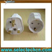 germany to uk adapter plug with groung pin SE-GCP