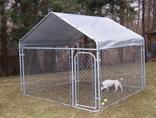 Large Galvanized Exercise Pen Dog Run Puppy Portable Enclosure Kennel