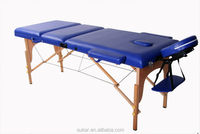 2014 chinese best mechanical portable wood 3 pad massage bed