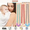 Fashion Necklace Hot Baby Teether Most Popular Jewelry Slider Beads