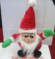 christmas gift & craft/christmas ornament santa/moving xmas santa