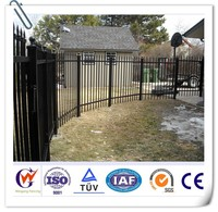 Outdoor backyard metal dog fence