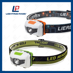 Free sample available 3w led+2 red strobe LED Camping Headlight for running