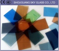 1830*2440mm 1650*2200mm Reflective Glass /Coated Glass, Glass Manufacturer For Decoration