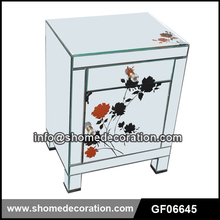 Colorful Rose Decorative Mirror Bedroom Furniture Side Table Nightstand