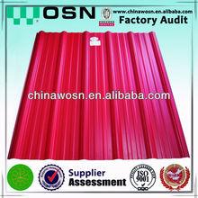 ASA colorful plastic flat sheet roof