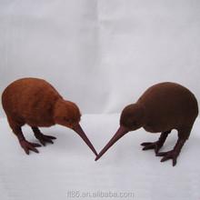 Hot sale love birds miniature unstuffed toys plush kiwi bird