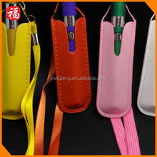 High Quality PU Electronic Cigarette Bag, Ego Leather Lanyard Ring Necklace Carrying Pouch , E Cig Lanyard,E Cigarette Case