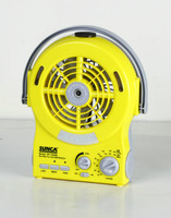 AC/DC RECHARGEABLE MINI MIST FAN WITH USB OUTPUT FOR MOBILE PHONE CHARGER & AM/FM RADIO