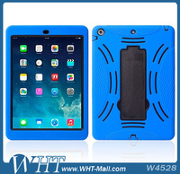 For iPad Air Robot Case with Stickstand, Stand PC Silicone Case for iPad 5