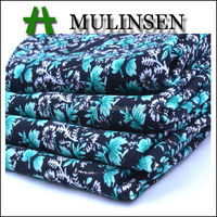 Mulinsen Textile Hot Sale Printed Cheap Polyester Wool Peach Fabrics For Caftan