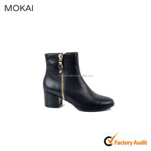 MK014-3 BLack woman shoe leather shoe factory