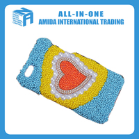 cute heart decoration colored cell phone cases wholesale