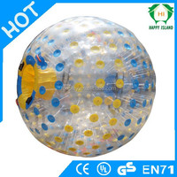 2015 Colourful dots inflatable zorb ball manufacture,large inflatable ball