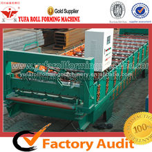 2015 High level CE standard YUFA 860 Color Steel Roof Tile Metal Sheet roll forming machine,manual sheet metal rolling machine