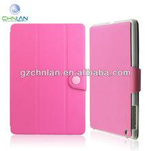 New arrival 3 fold protective flip leather smart cover for ipad mini