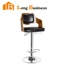 LB-5015 Dining room furniture swivel PU cushion bentwood bar stool