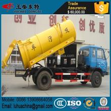 4 x 2 marca nova Dongfeng 3000L vácuo caminhão de sucção de esgoto