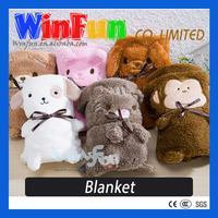 Sheep Blanket And Pillow Plush Animal Shape