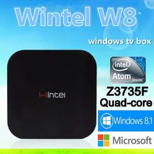 High Performance Atom Z3735F Intel Bay Trail-T CR upto 1.83GHz wintel tv box 2G RAM with Bluetoothth 4.0 and Wifi IEEE 802.11