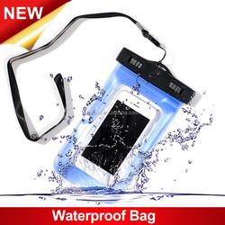 Universal Luminous Mobile Phone PVC Waterproof Bag for Summer Beach