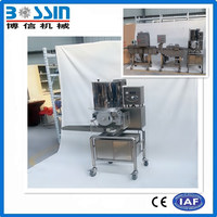New design hamburger burger patty forming making machine with high efficient and low investment