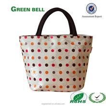 Waterproof Picnic Lunch Bag Tote Insulated Cooler Travel Zipper Organizer Box,Jacquard dot