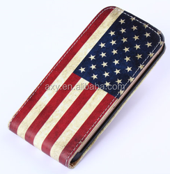 [Wholesale]Flip leather casing with card slot for iPhone 4/4S case phone