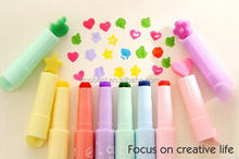 6 pcs/lot rotuladores colores multiple digital highlighter pen maker pen articulos de papeleria stionery escolar