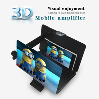 2015 NEWEST 3D screen magnifier, foldable leather phone case, portable 3D enlarge video game