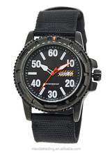 classic stainless steel leather winner watch for men