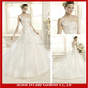 WD-2506 One shoulder strap decent wedding dress a-line drop waist wedding dress 2016