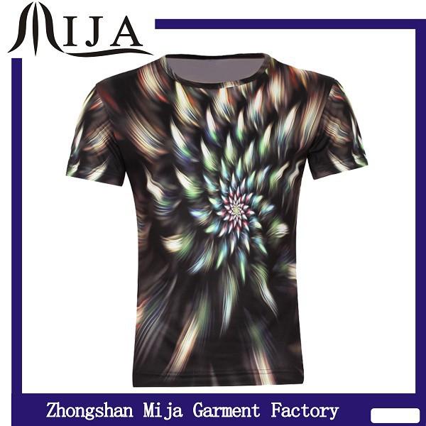 China Wholesale 100 Ployester Sublimation Black T Shirt