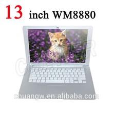 mejor venta de slim 13 pulgadas chino del ordenador portátil como su mini ordenador portátil netbook